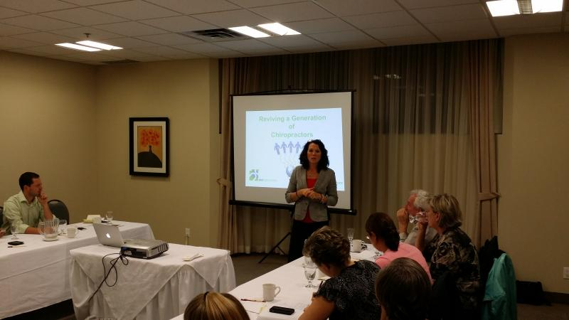 Dr. Cecile Thackeray at Halton Peel Chiropractic Society 2014