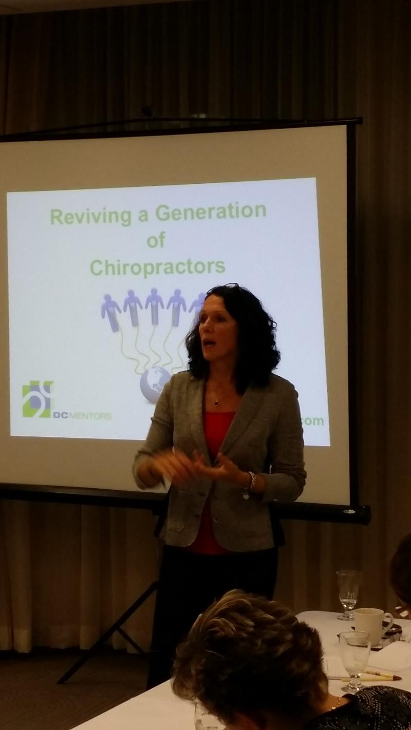 Dr. Cecile Thackeray presenting to the Halton Peel Chiropractic Society HPCS 201